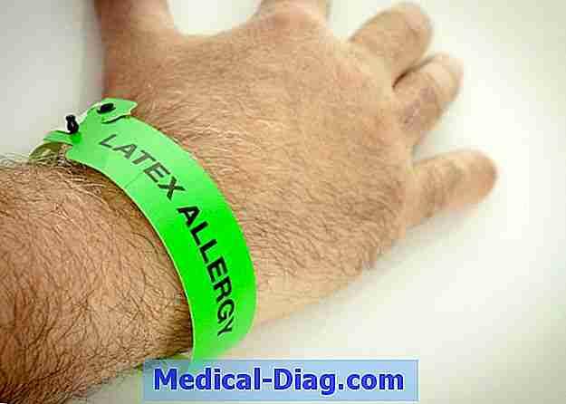latex allergi symptomer